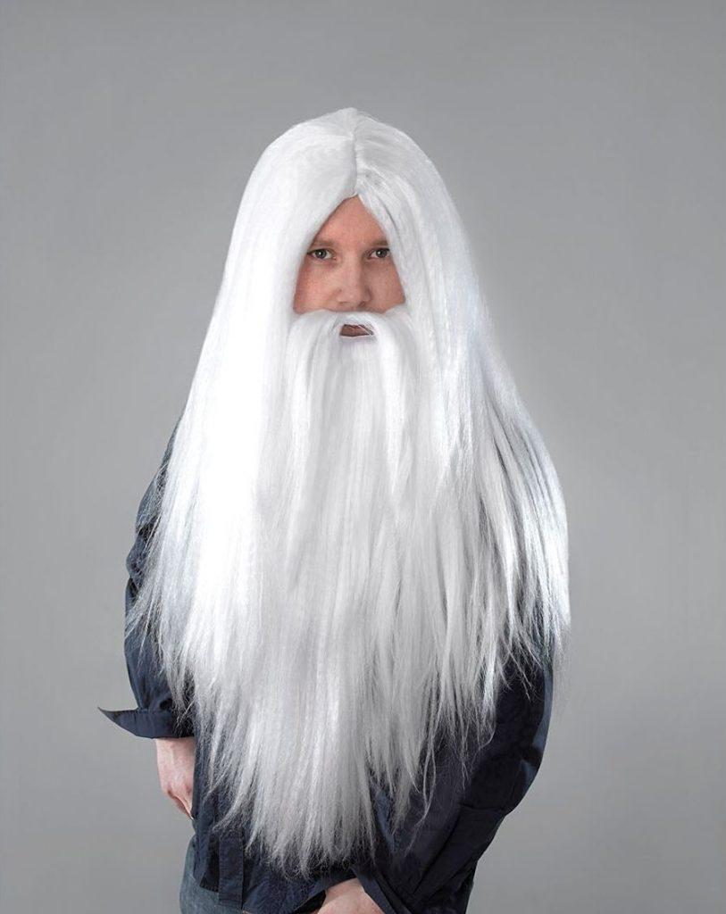 barba bianca finta 1