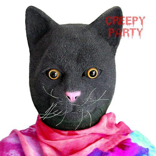 Inquietante maschera gatto