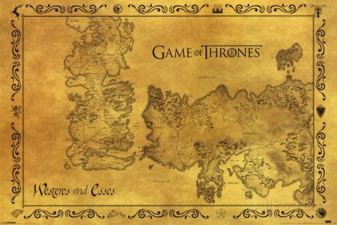 La mappa di Game Of Thrones