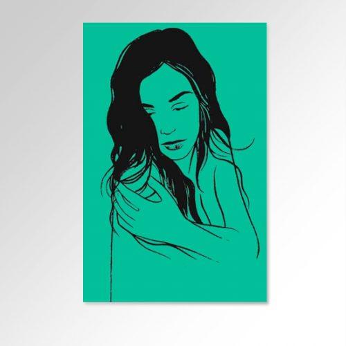 Inés Sastre Serigrafia di Alessandro Baronciani