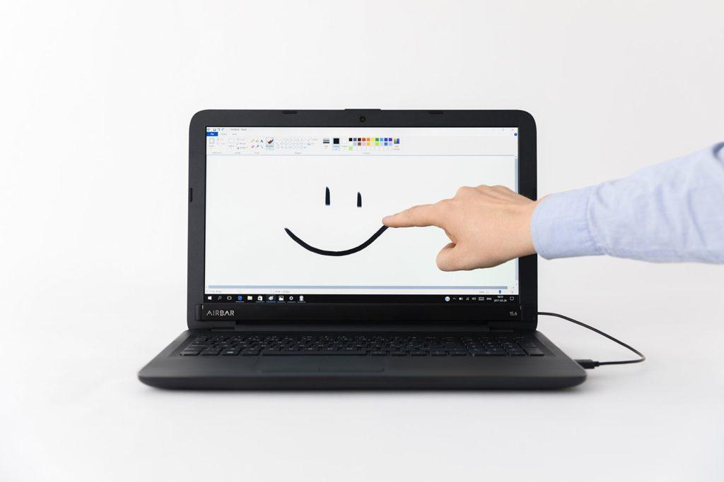"""AirBar – Striscia magnetica con funzione touch per schermi da 15,6"""" (39,5 cm)"""