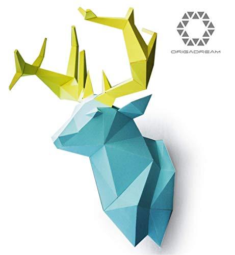 Cervo di carta origami puzzle 3D